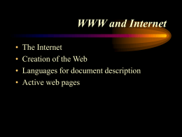 WWW and Internet - Simpson College