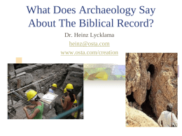Does Archaeology Verify the Bible?