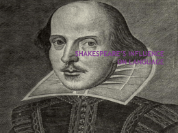 Shakespeare Influence on Language