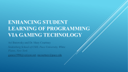 Enhancing Student Learning of Programming via Gaming