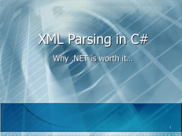 XML Parsing in C# - Computer Science at RPI