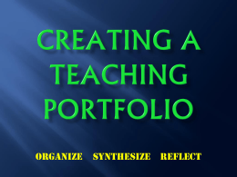 Steps to Creation of Your Own Professional Portfolio