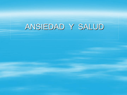 ANSIEDAD Y SALUD