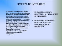 LIMPIEZA DE INTERIORES