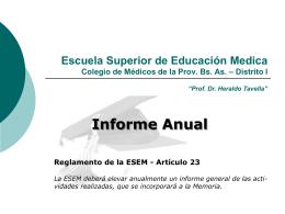 CURSOS 2009 - COLEGIO DE MEDICOS - Distrito I