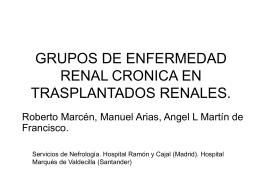 GRUPOS DE ENFERMEDAD RENAL CRONICA EN …