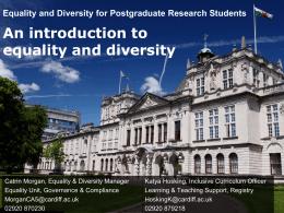 Equality Matters - Cardiff University