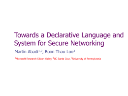 Declarative Networking: Extensible Networks with