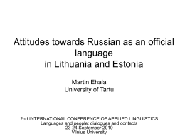 The paradox of Estonian language policy: mother tongue