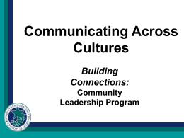Communicating Across Cultures - SR-PLN
