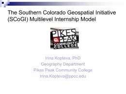 Multilevel Int Model - Integrated Geospatial Education …