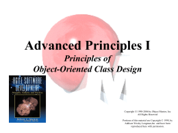 Principles of Object