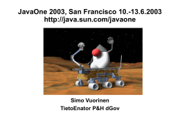 JavaOne 2003, San Francisco 10.