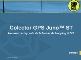 Colector GPS Juno™ ST