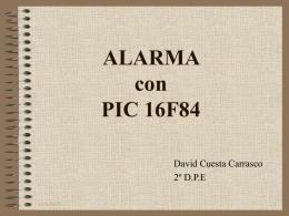 ALARMA con PIC 16F84