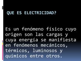 Que es electricidad?