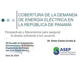 MERCADO MAYORISTA DE ELECTRICIDAD DE PANAM&#193