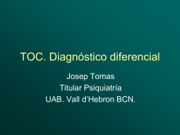 TOC. Diagnostico diferencial