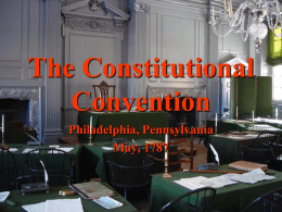 PPT: Constitutional Convention - Online
