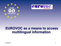 Eurovoc presentation