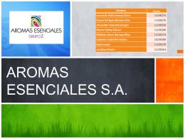 AROMAS ESENCIALES S.A.