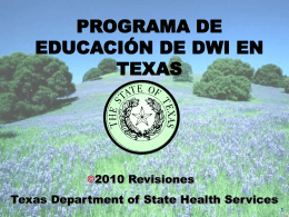 Texas DWI Education Program