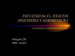 FACULTAD de Cs. EXACTAS INGENIERIA y AGRIMENSURA