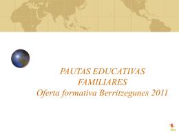 PAUTAS EDUCATIVAS FAMILIARES Colectivo Europeo del …