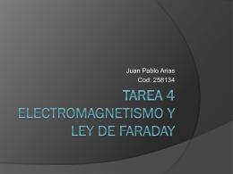 Tarea 4 ELECTROMAGNETISMO Y LEY DE FARADAY