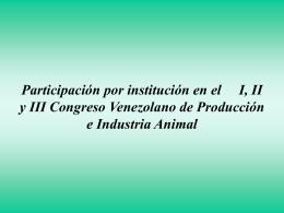 Trabajos presentados en el I Congreso Venezolano de …