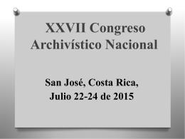 Diapositiva 1 - Archivo Nacional de Costa Rica