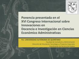 XVI Congreso Internacional sobre Innovaciones en …