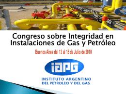 Congreso sobre Integridad en Instalaciones de Gas y …