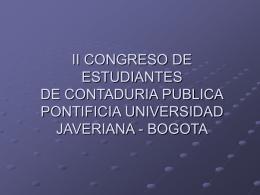 II CONGRESO DE ESTUDIANTES DE CONTADURIA …