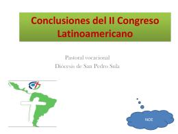 Conclusiones del II Congreso Latinoamericano