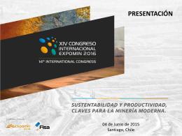 Diapositiva 1 - Congreso Expomin 2016 | www.congreso