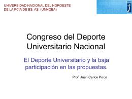 Congreso del Deporte Universitario Nacional