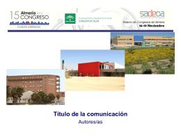 15 Congreso Sadeca - Formato Diapositiva