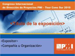 Diapositiva 1 - Portal del PMI Chapter Lima