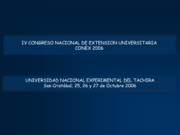 IV CONGRESO NACIONAL DE EXTENSION UNIVERSITARIA …