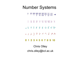 Number Systems - King's College London