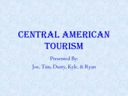 CENTRAL AMERICAN TOURISM