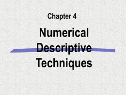 Numerical Descriptive Measures