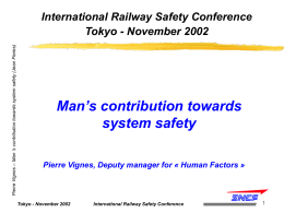 Aucun titre de diapositive - International Rail Safety