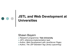 JSTL and web development at Universities
