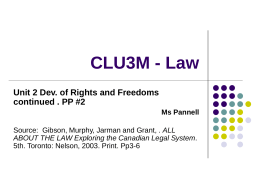 CLU3M - Law - Wikispaces