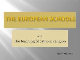 EUROPEAN SCHOOLS Brussels