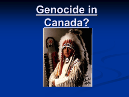 Genocide in Canada?