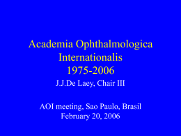 Academia Ophthalmologica Internationalis 1975-2006