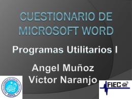 Cuestionario De Microsoft Word